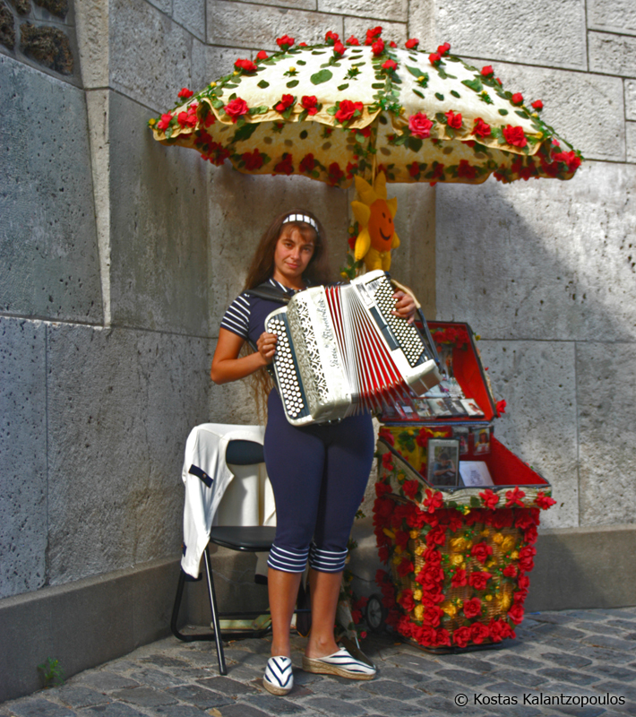 Girl with accordion
